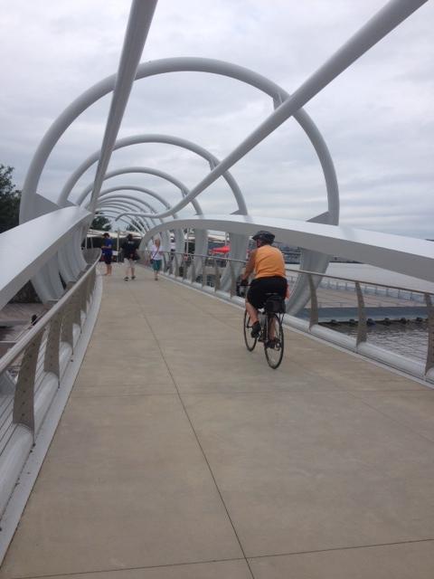 The Bridge At Yards Park Near the Anacostia River