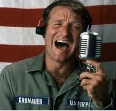 "My favorite Robin Williams movie, ""Good Morning Vietnam."""